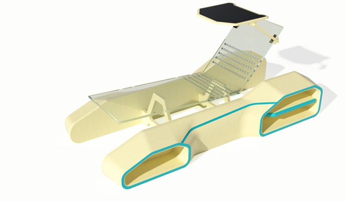 مدلسازی صندلی ساحلی