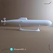 ماکت زیردریایی طراحی شده