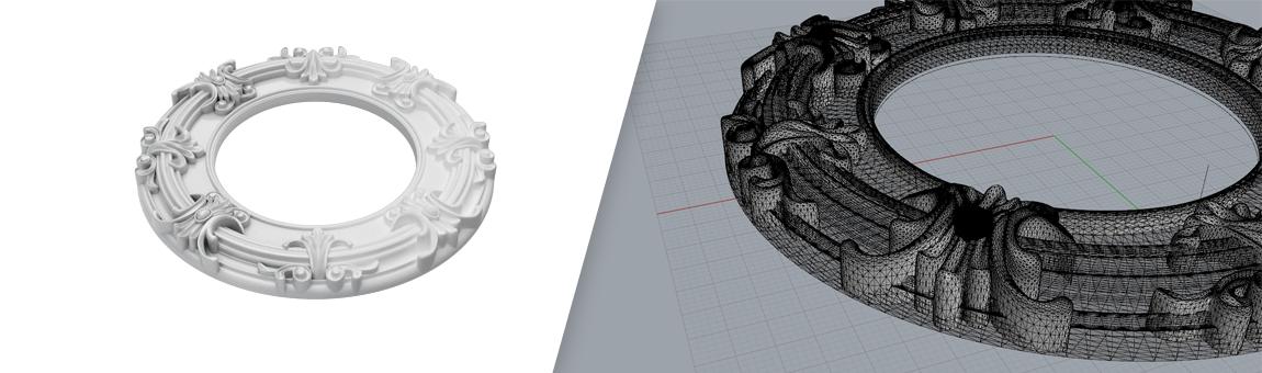 طراحی سه بعدی منبت با راینو