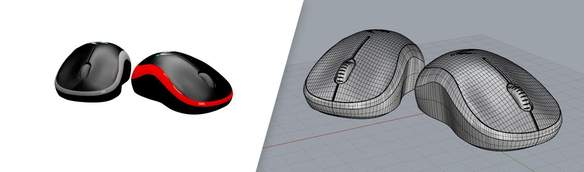 طراحی سه بعدی موس با راینو