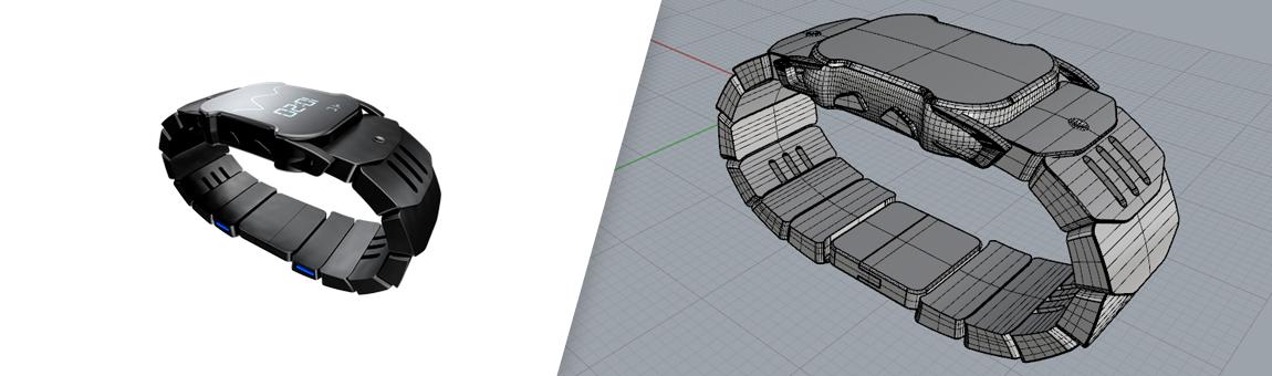 طراحی سه بعدی ساعت مچی با راینو