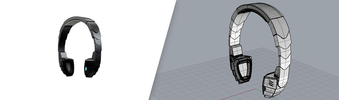 طراحی سه بعدی هدفون با راینو